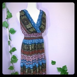 Roz Ali Tribal Aztec Maxi Dress